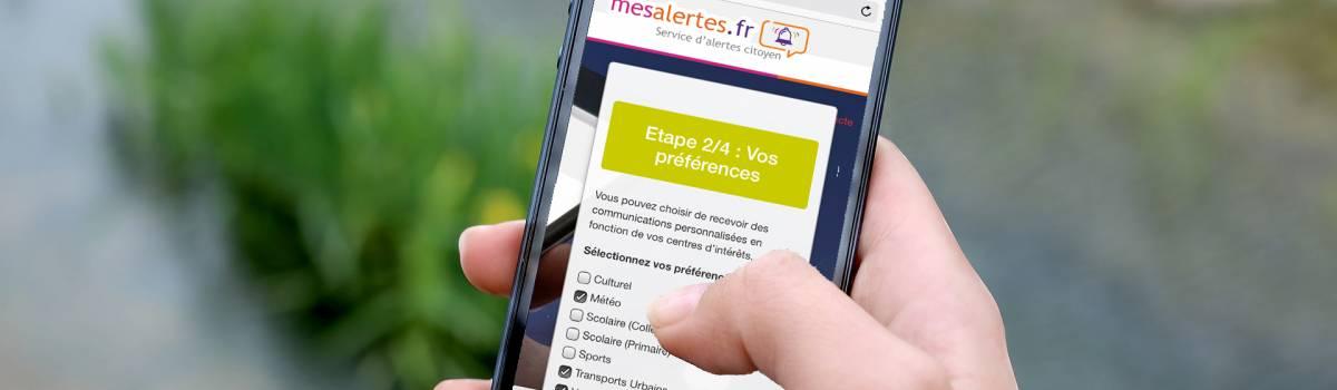 Alertes SMS et e-mail - Image