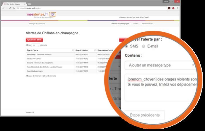 Alertes SMS et e-mail - Galerie 1